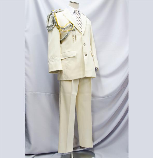 消防礼服 白(斜め)