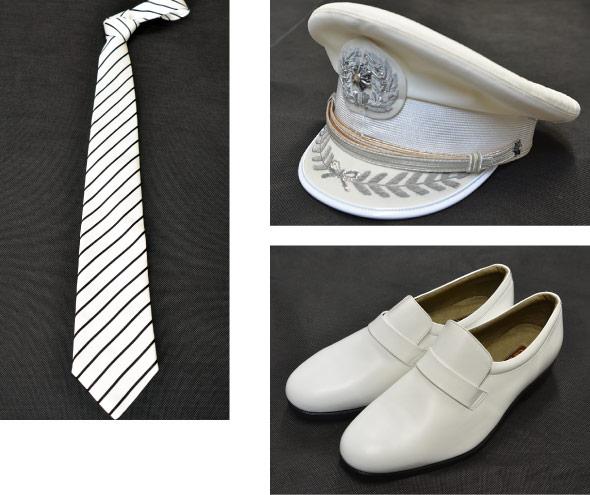 消防礼服 白(ネクタイ・帽子・靴)